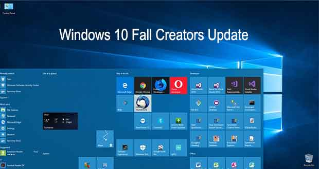 Windows 10 Fall Creators Update, Menu Démarrer