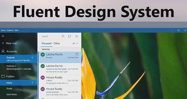 Windows 10 - Le Fluent Design