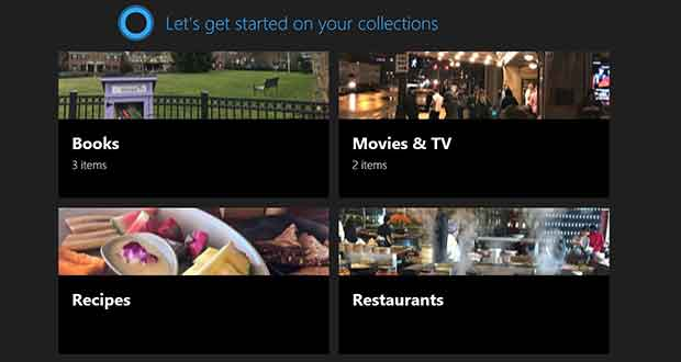 Windows 10 Build 17017 - Cortana Collections