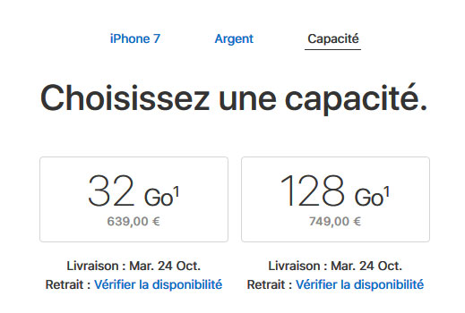 iPhone 7 et 7 Plus d'Apple