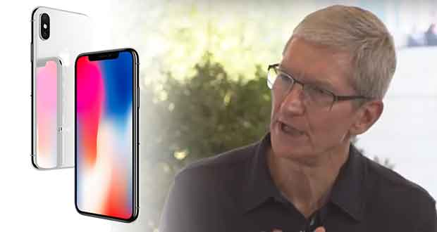 iPhone X - Tim Cook PDG d'Apple