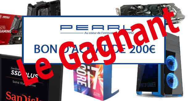 Concours GinjFo / Pearl - le gagnant