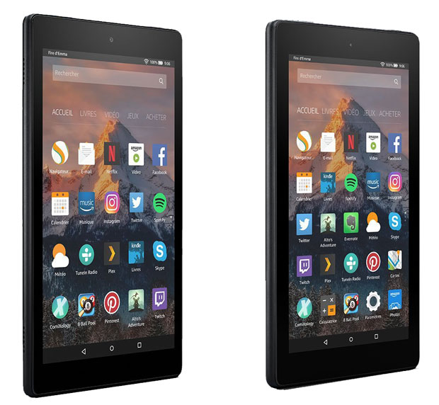 Tablettes Fire HD 8 et Fire 7