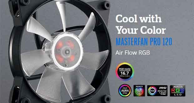 MasterFan Pro Air Flow RGB de Cooler Master