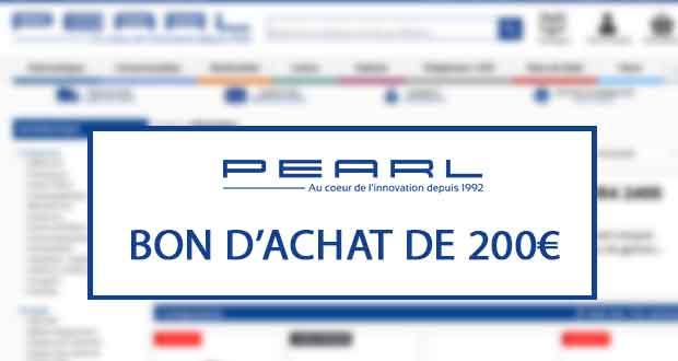 Concours GinjFo / Pearl - un bon d'achat de 200 € est en jeu