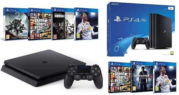Pack PS4 1 To et PS4 Pro + jeux