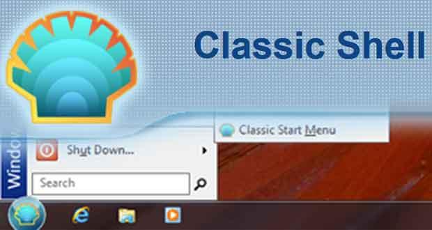 Utilitaire Classic Shell pour Windows