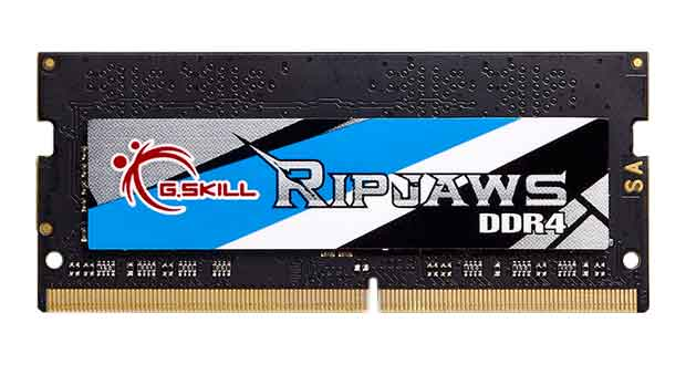 Kit SODIMM Ripjaws DDR4-4000MHz CL18-18-18-38 32GB (4x8GB) à 1.35V