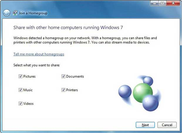 HomeGroup - Windows