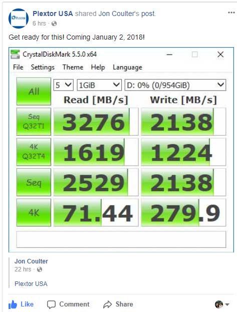 SSD M9Pe de Plextor