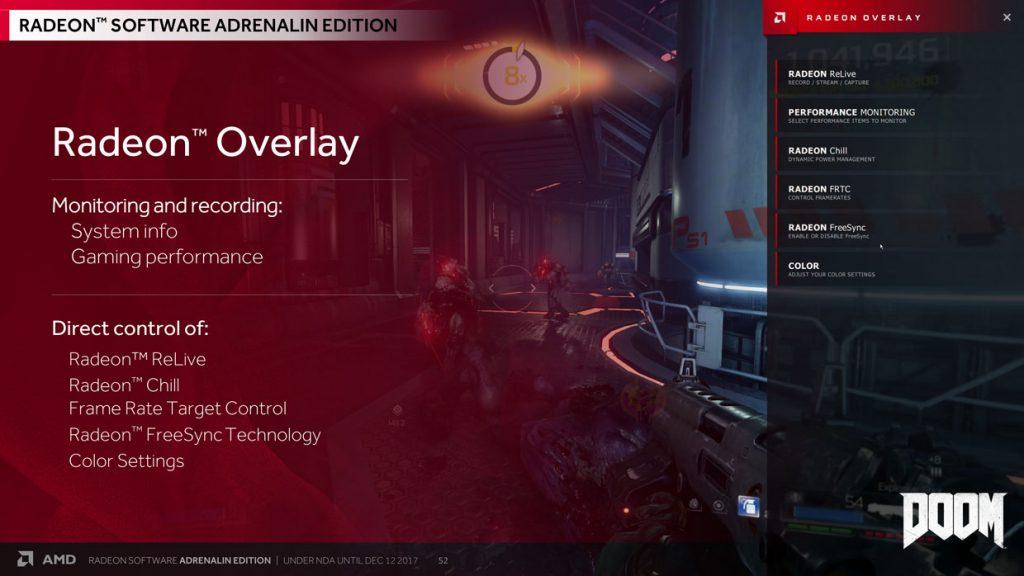 Radeon Software Adrenalin Edition 17.12.1 - Présentation