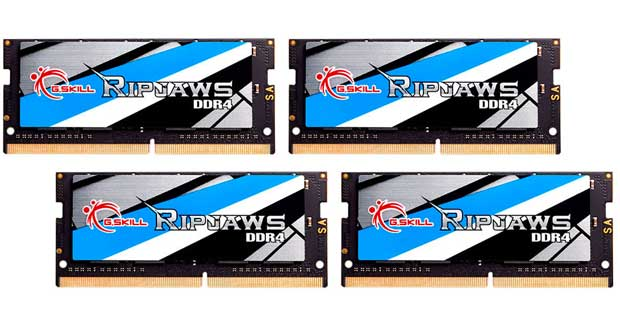 Kit Ripjaws DDR4 64GB (4x16GB) SO-DIMM à 3466MHz CL17