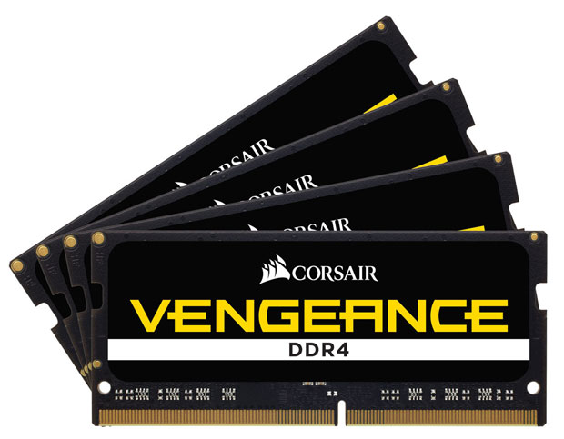 kit Vengeance 32GB (4 x 8GB) DDR4 SODIMM 4000 MHz CL19
