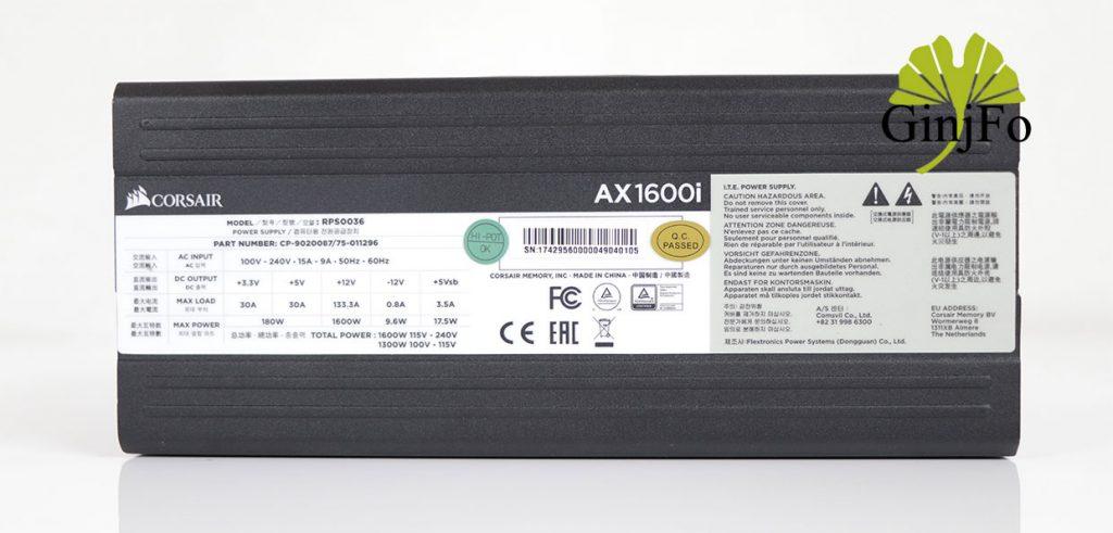 Alimentation AX1600i de Corsair