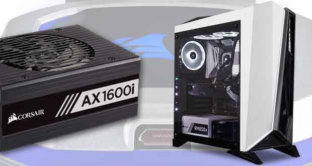Corsair, alimentation AX1600i, boitier Spec-Omega et Watercooling AIO H150i et H115i Pro RGB