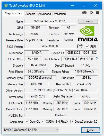 Utilitaire GPU-Z v2.6.0