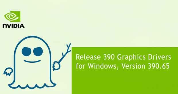 Pilotes graphiques GeForce 390.65 WHQL de Nvidia