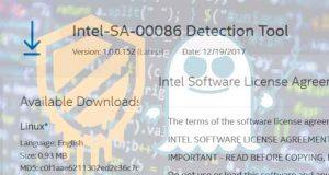 Failles Meltdown et Spectre, utilitaire Intel-SA-00086 Detection Tool
