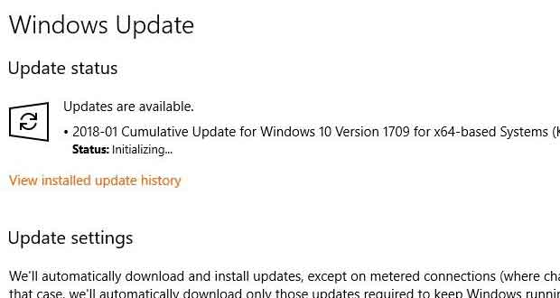 Windows 10 - Service Windows Update