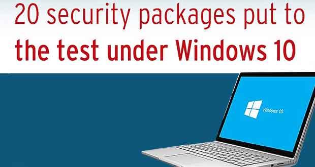 Windows 10 et la sécurité, 20 suites testées par AV-Test