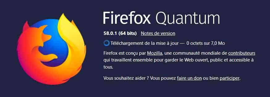 Firefox 58.0.2 de Mozilla