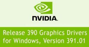 Pilotes graphiques GeForce 391.01 WHQL de Nvidia