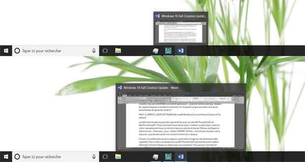 Windows10 - comment agrandir les miniatures de la barre des tâches ?
