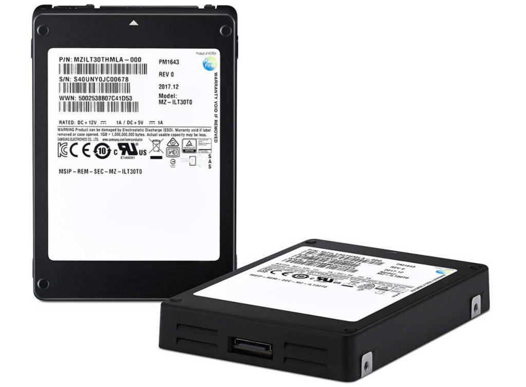 SSD SAS PM1643 de Samsung