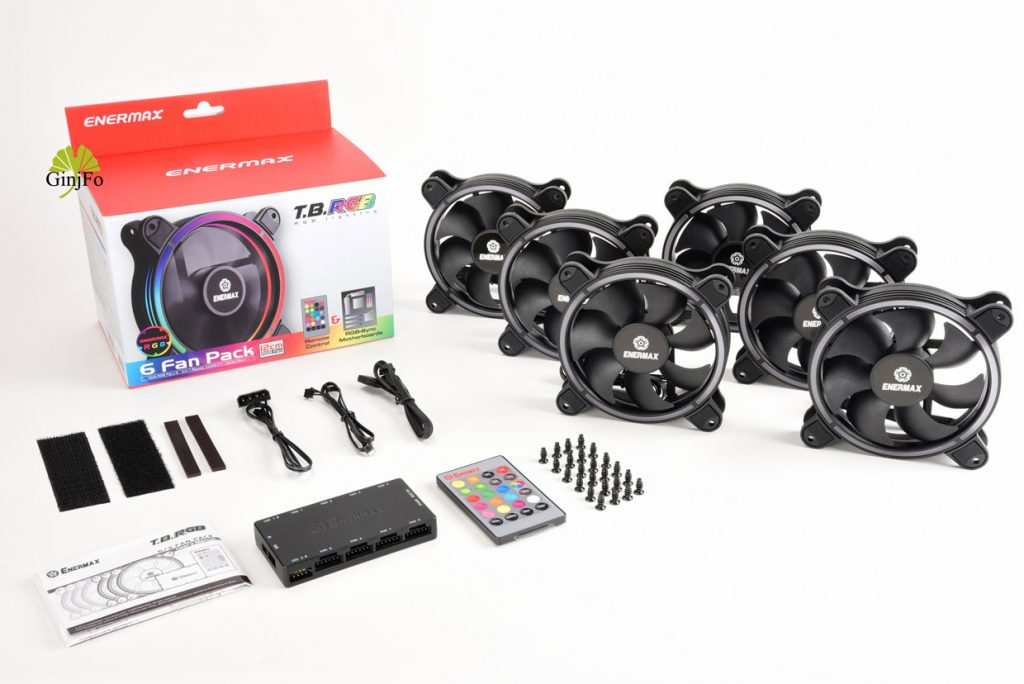 T.B. RGB 6 Fan Pack référence UCTBRGB12-BP6