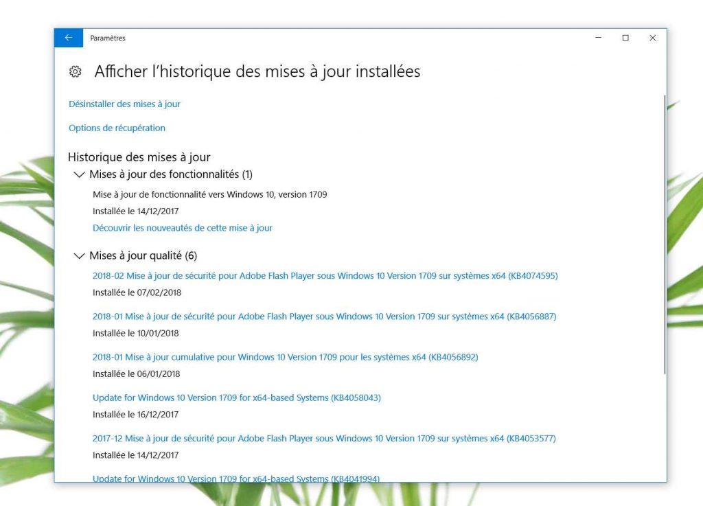 Windows 10, comment désinstaller une mise à jour défaillante