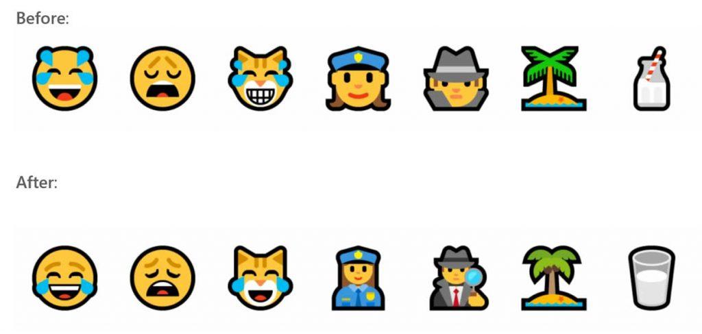 Windows 10 build 17101 – les « Emoji »