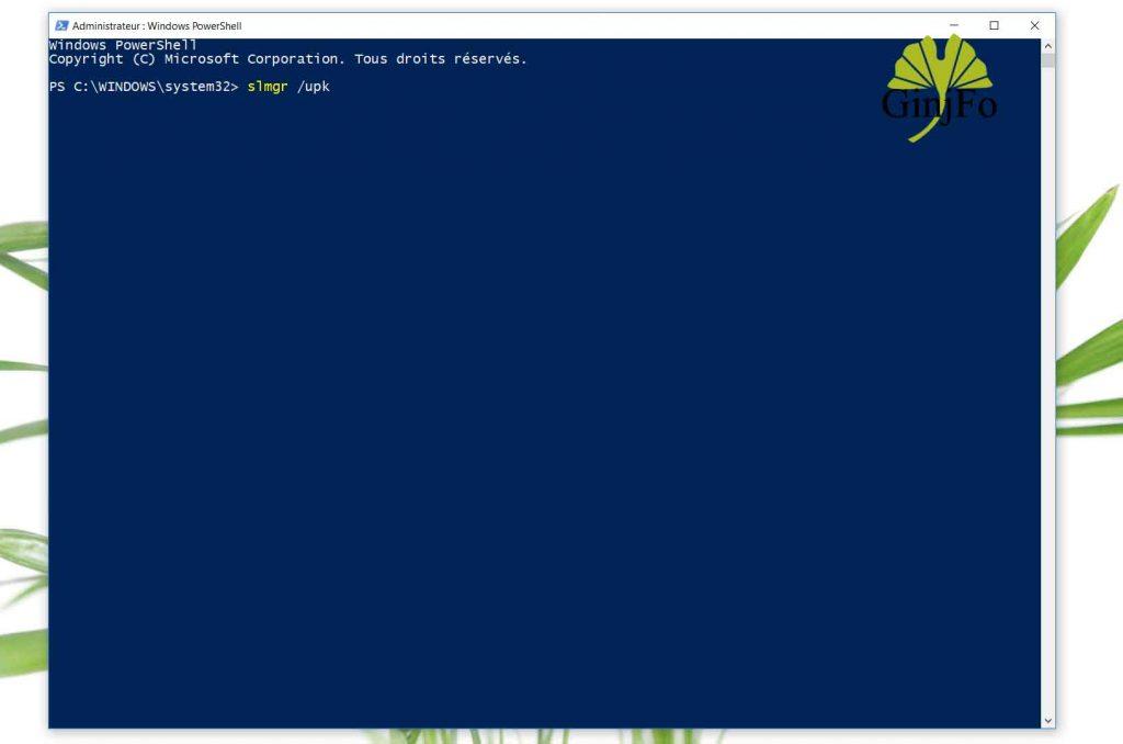 Désactivation de Windows 10