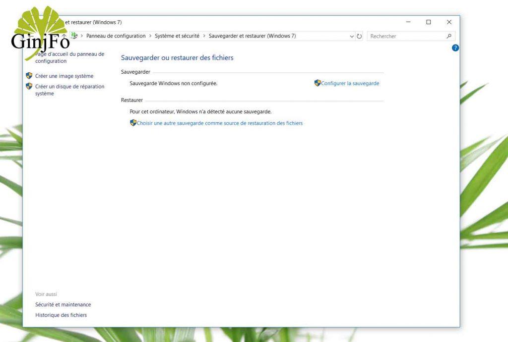 Windows 10, Comment créer une image système ?