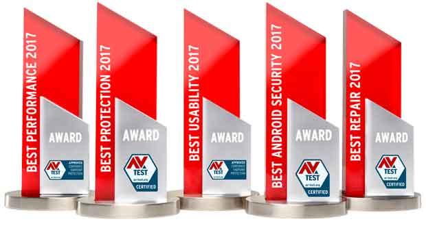 AV-TEST Awards 2017 : les meilleures suites de protection de l'année