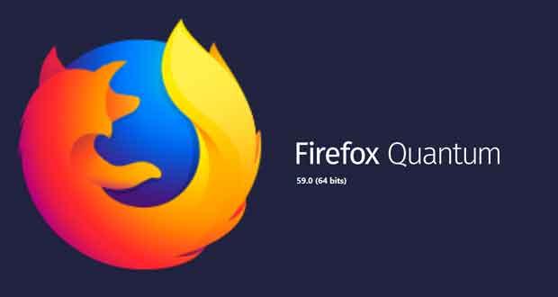 Navigateur Firefox Quantum 59
