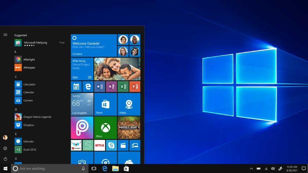 Windows 10 S, le bureau