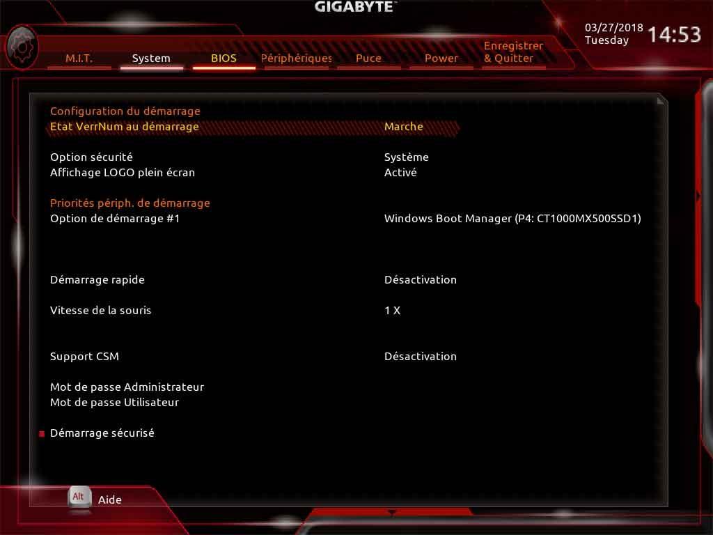 H370 Aorus Gaming 3 Wifi - BIOS