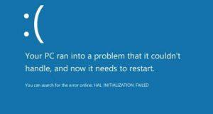 BSOD et Windows 10