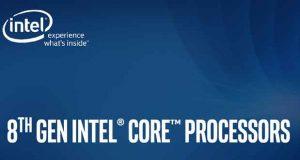 Processeur Core de 8ème génération – Avril 2018 - Intel