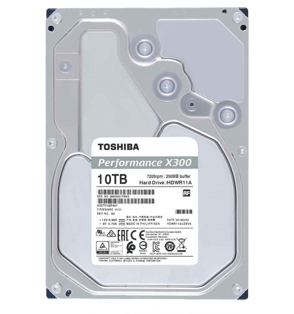Disque dur X300 10 To de Toshiba