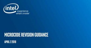 « Microcode Update Guidance » d'Intel