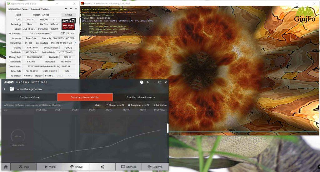 Red Devil RX VEGA 64 8GB - FurMark 1.9.1