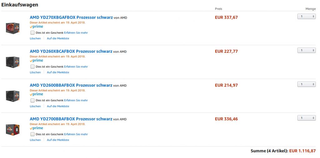 Ryzen 2000 series, les prix débarquent