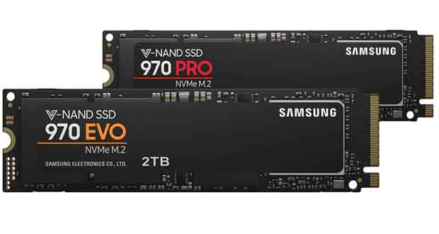 970 Pro et 970 Evo de Samsung