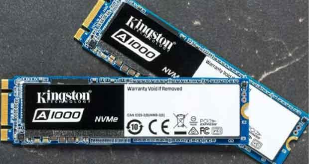 A10000, un SSD M.2 2280 PCIe NVMe signé Kingston