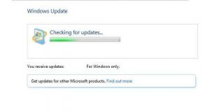 Windows 7, service Windows Update