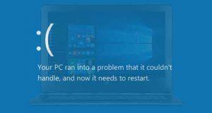 Windows 10 et l'écran bleu de la mort alias le BSOD