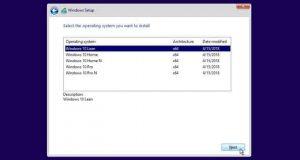 """Windows 10 """"Lean"""" apparait dans les choix possibles lors de l'installation de Windows 10 Redstone 5"""
