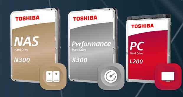 Disques durs Toshiba X300, N300 et L200