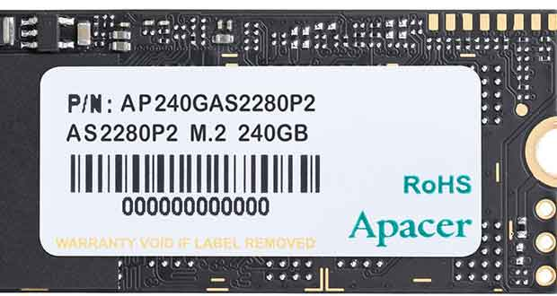 SSD M.2 2280 AS2290P2 d'Apacer